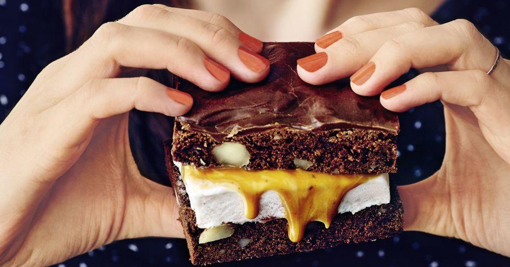 Brownie-Eisecken