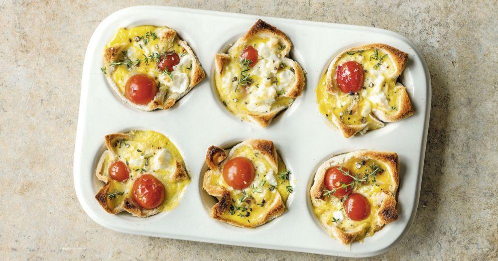Tomaten-Toast-Muffins