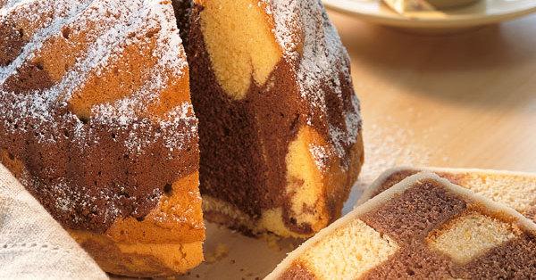 Marmorkuchen mit echter Schokolade