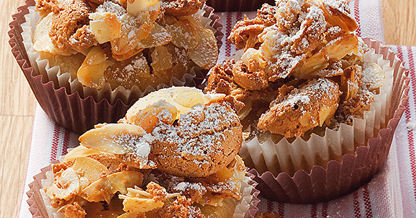 bananen muffins mit amaretti haube rezept k cheng tter. Black Bedroom Furniture Sets. Home Design Ideas