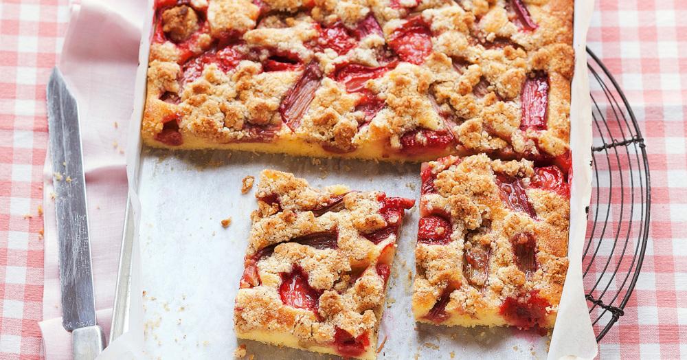 Kuchen rhabarber erdbeer