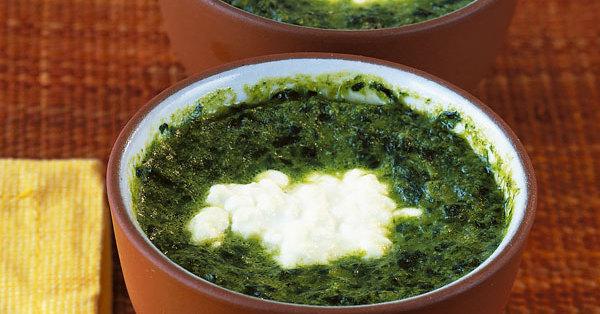 Ofen eier im spinatnest rezept k cheng tter - Eier kochen dauer ...