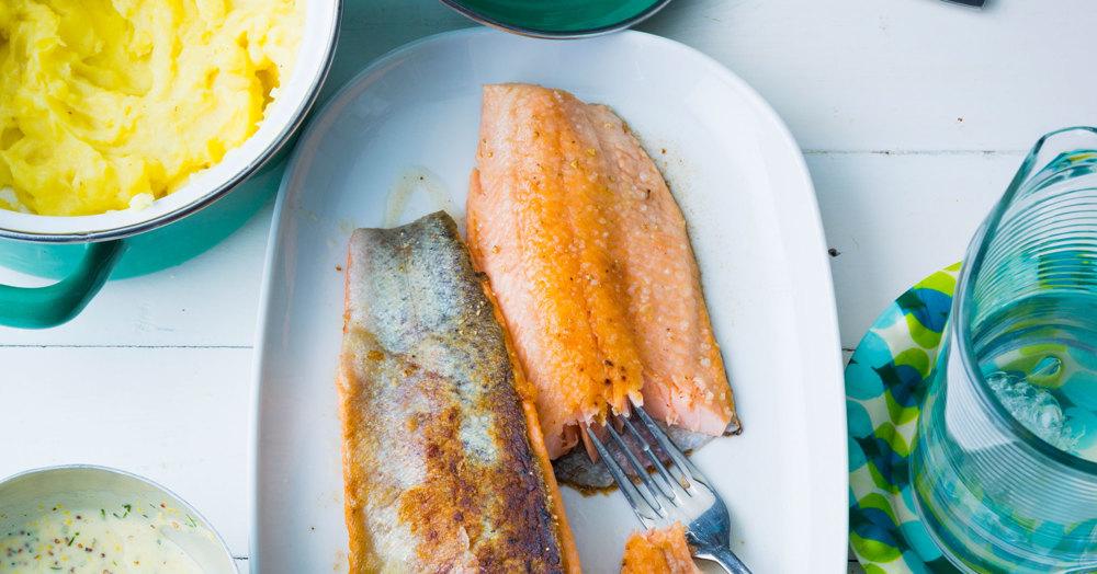 Fisch in Senfsauce mit Kartoffelpüree
