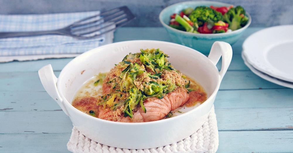 Schnelle Fischfilets mit Zucchinihaube