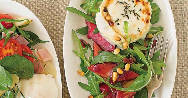 Rhabarber-Rucola-Salat