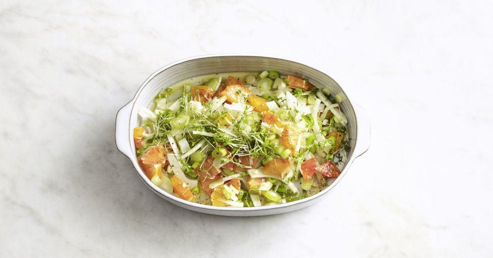 Orangen-Fenchel-Salat mit Ahornsirup