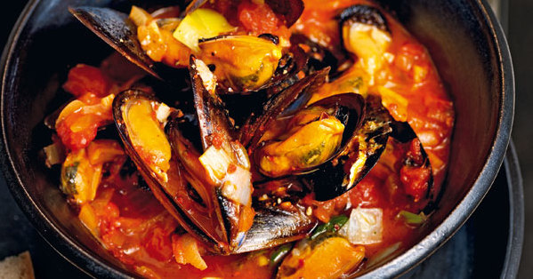 Miesmuscheln mit tomatensauce rezept k cheng tter - Miesmuscheln kochen ...