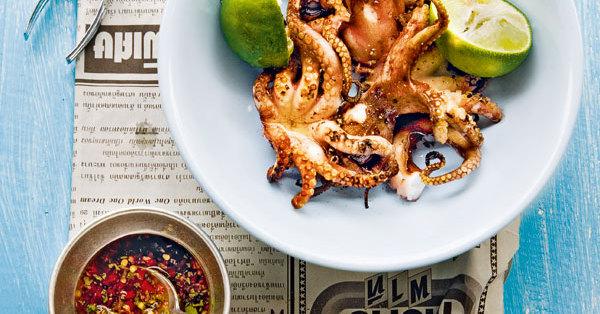 Tintenfische vom Grill (Pla Mük Yang)