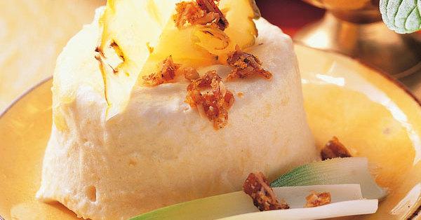 Ananasparfait Mit Mandel Vanille Krokant Rezept K 252 Cheng 246 Tter