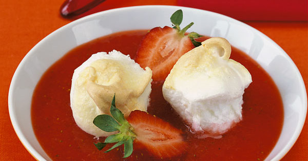 Schnee eier mit erdbeersauce rezept k cheng tter - Eier kochen dauer ...