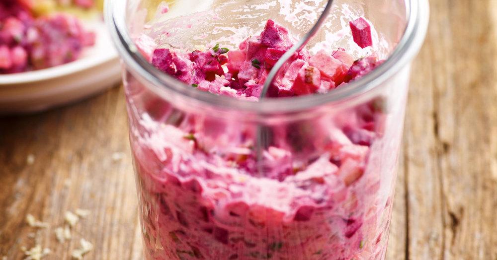 Rote-Bete-Salat mit Matjes