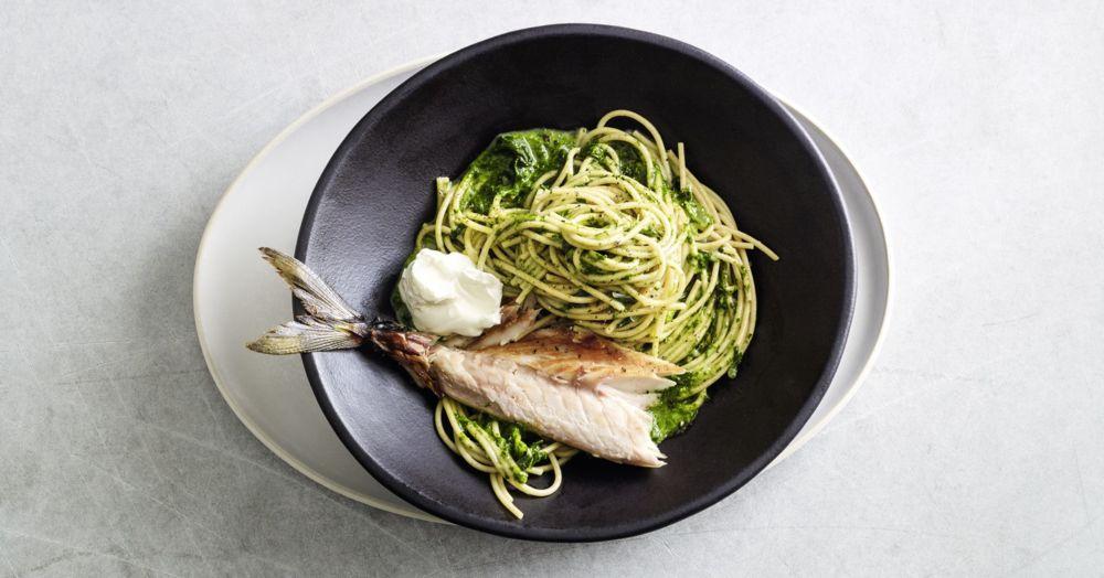 One Pot Spinat-Spaghetti mit Makrele
