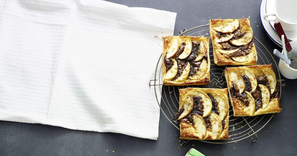 Apfel-Nugat-Torteletts