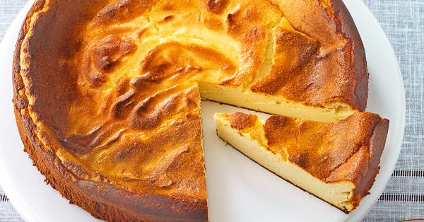 Käsekuchen ohne Boden Rezept - Glutenfrei Backen