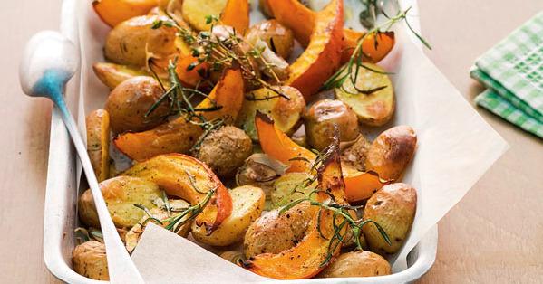 Kürbis-Kartoffel-Gemüse