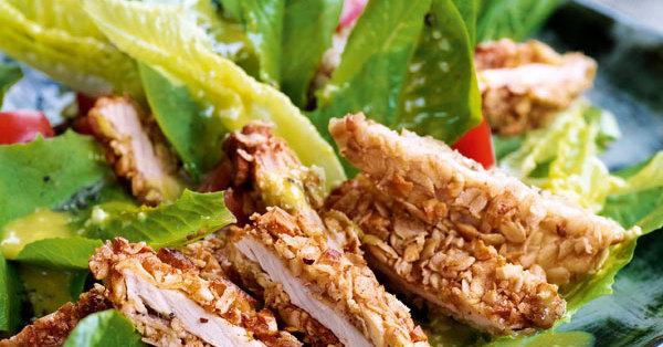 Caesar Salad mit Knusperschnitzel