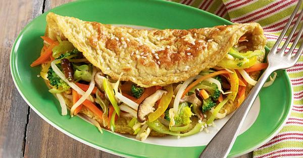 Asiatisches Sesam-Omelett