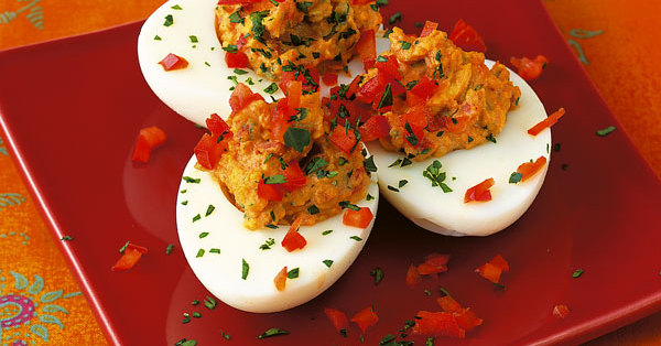 Rezept f r gef llte paprika eier k cheng tter - Eier kochen dauer ...