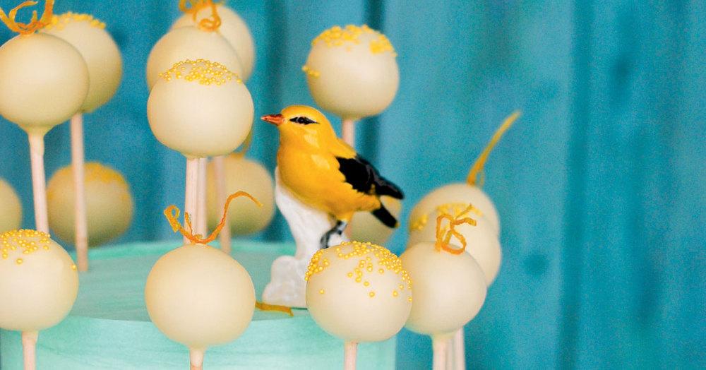 Zitronen-Cakepops