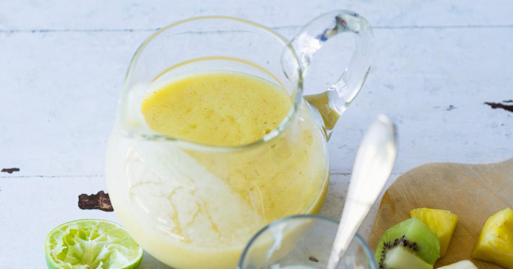ananas kiwi smoothie rezept k cheng tter. Black Bedroom Furniture Sets. Home Design Ideas