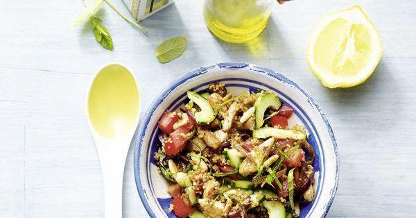 Low Carb Marokko-Salat mit Hähnchen