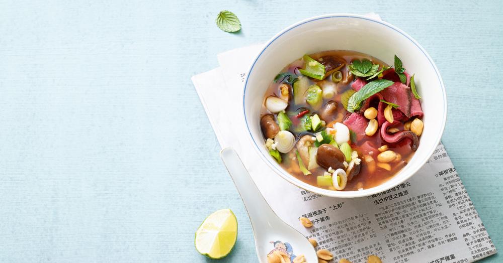 Vietnam Suppe Mit Roastbeef