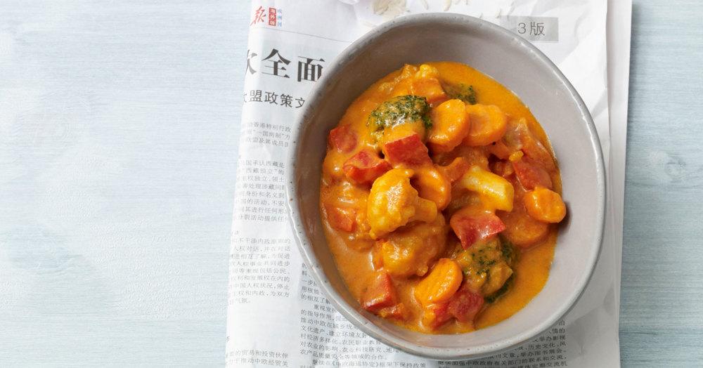 Rotes Kokos-Gemüse-Curry