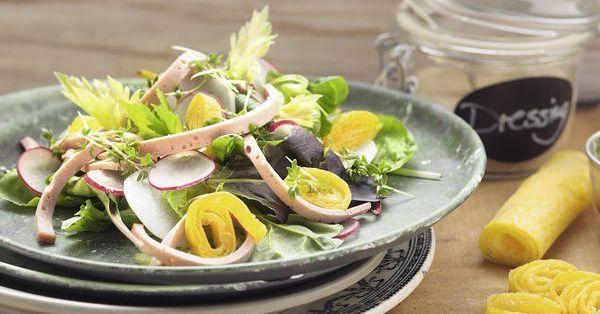 biergarten salat mit omelett rezept low carb k cheng tter. Black Bedroom Furniture Sets. Home Design Ideas