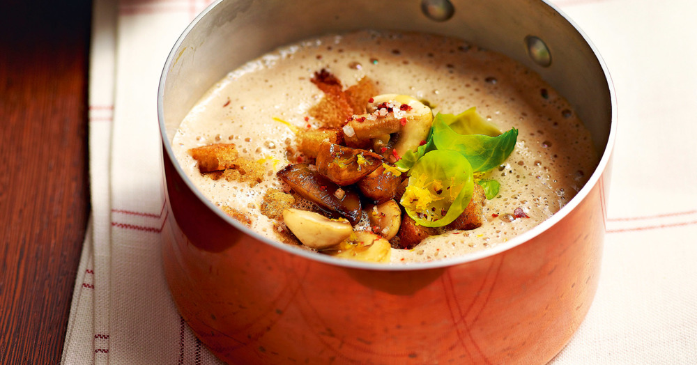 Maronensuppe mit Portwein und Schokolade Rezept