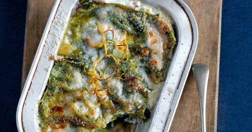 gr ne lasagne mit zucchini rezept k cheng tter. Black Bedroom Furniture Sets. Home Design Ideas