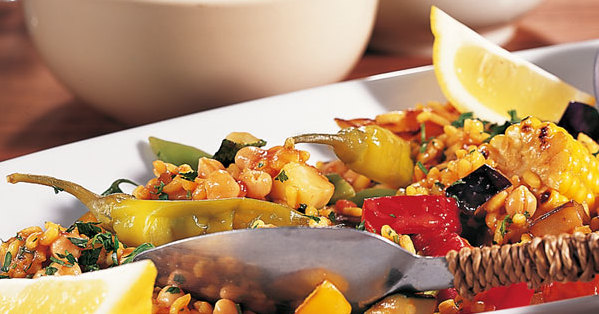 Vegetarische Gemüse-Paella