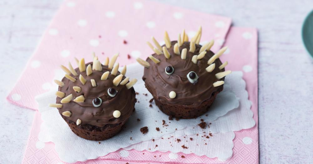 Igel-Muffins für Kinder
