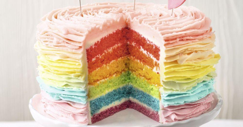 buttercreme regenbogen torte layer cake k cheng tter. Black Bedroom Furniture Sets. Home Design Ideas