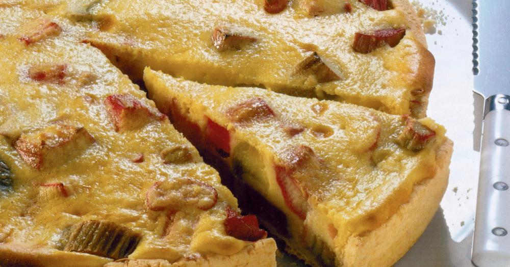 Glutenfreier Rhabarberkuchen Mit Pudding Rezept Kuchengotter