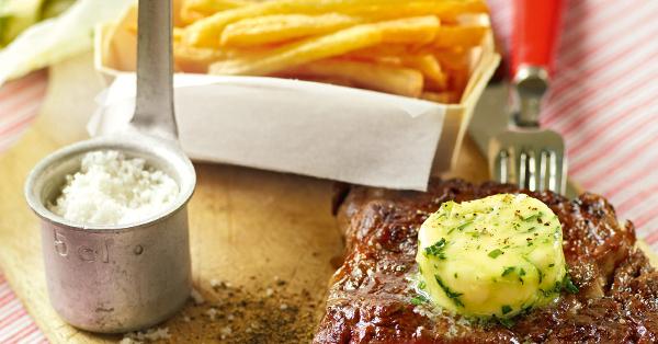 steak mit pommes frites rezept k cheng tter. Black Bedroom Furniture Sets. Home Design Ideas