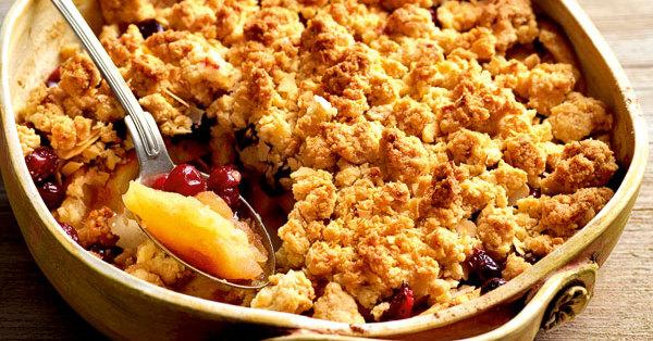 Apfel-Cranberry-Crumble