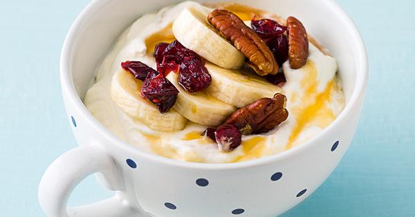 Bananenquark mit Nüssen