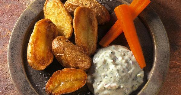 Ofenkartoffeln mit Stippe