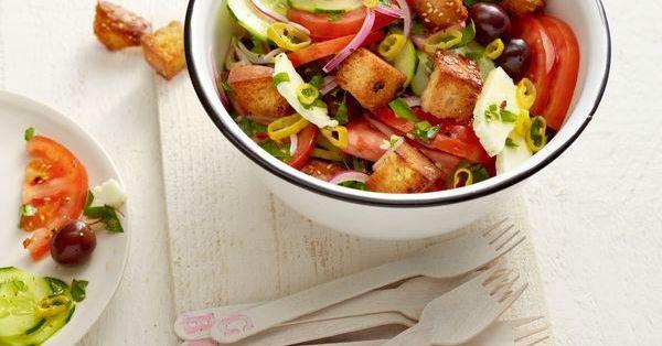 Griechischer Fladenbrot-Salat