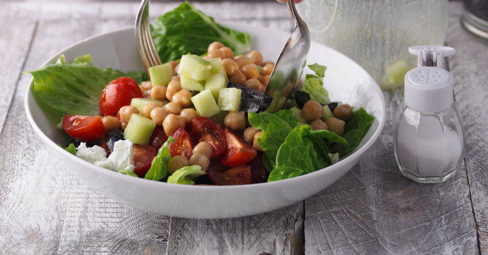 Griechischer salat schlank im schlaf