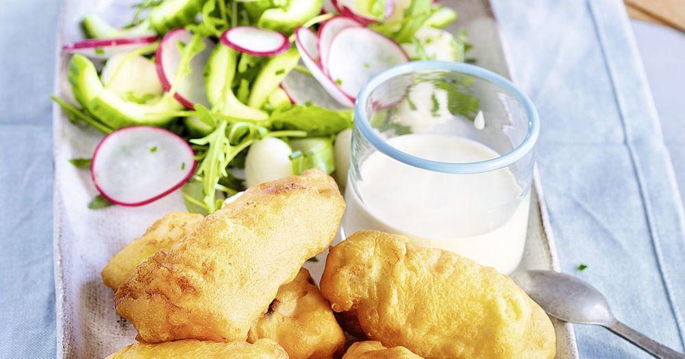 Backfisch mit Gnocchi-Salat