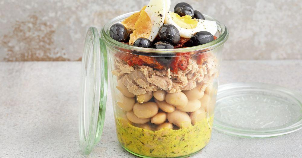 Bohnensalat Nizza-Style im Glas
