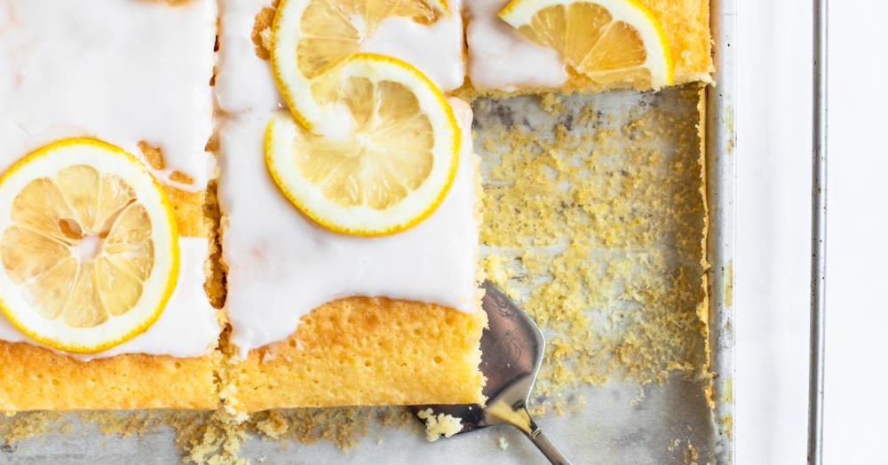 Zitronenkuchen Blechkuchen Rezept