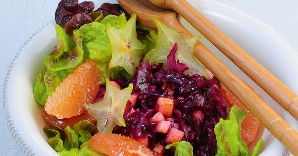 rotkohl apfel salat mit grapefruit rezept k cheng tter. Black Bedroom Furniture Sets. Home Design Ideas