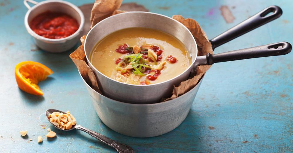 Schnelle Kichererbsen-Erdnuss-Suppe