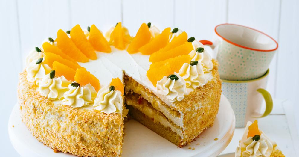 Orangentorte Rezept (glutenfrei)