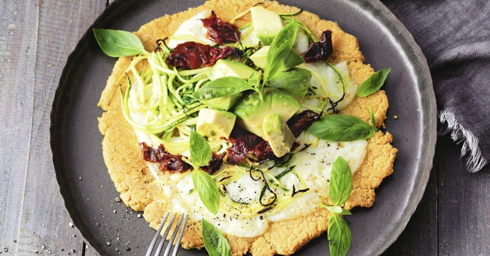 Socca-Pizza mit Zucchini