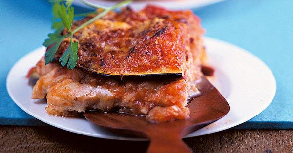 low carb auberginen lachs lasagne rezept k cheng tter. Black Bedroom Furniture Sets. Home Design Ideas