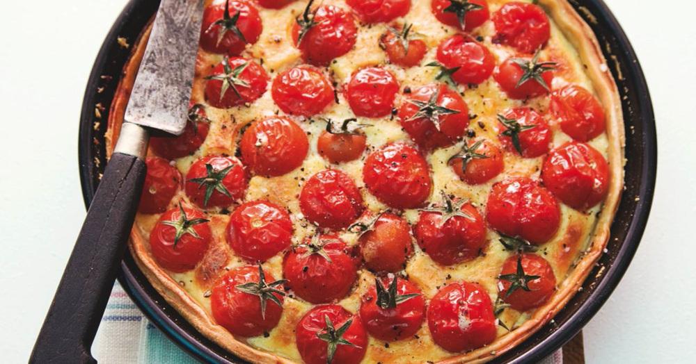 vegetarische tomatenquiche rezept k cheng tter. Black Bedroom Furniture Sets. Home Design Ideas
