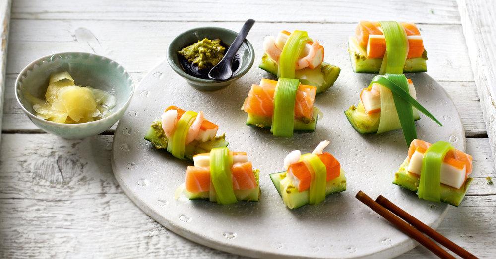sis sushi mit lachs und gurke rezept k cheng tter. Black Bedroom Furniture Sets. Home Design Ideas